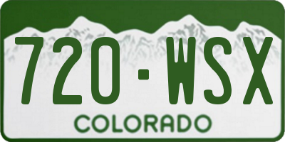CO license plate 720WSX