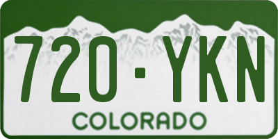 CO license plate 720YKN