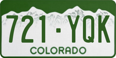 CO license plate 721YQK