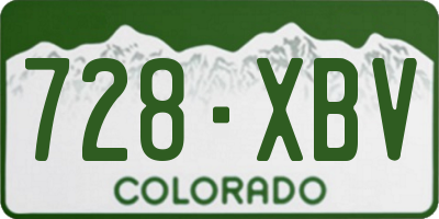 CO license plate 728XBV
