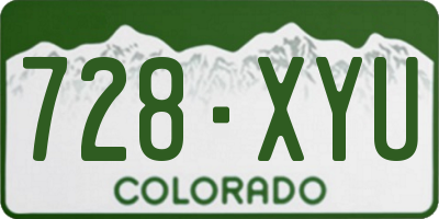 CO license plate 728XYU