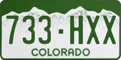CO license plate 733HXX