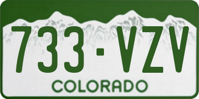 CO license plate 733VZV