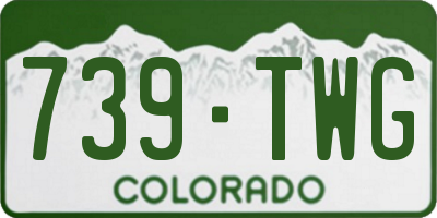 CO license plate 739TWG