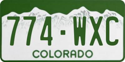 CO license plate 774WXC