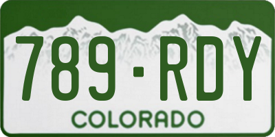 CO license plate 789RDY