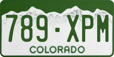 CO license plate 789XPM