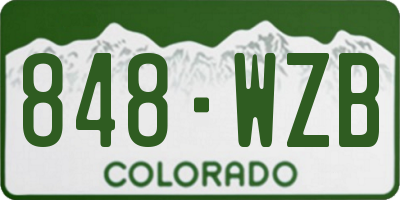 CO license plate 848WZB