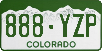 CO license plate 888YZP