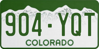 CO license plate 904YQT