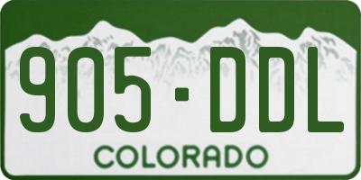 CO license plate 905DDL