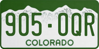 CO license plate 905OQR