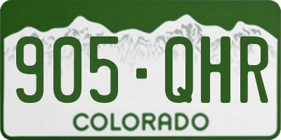 CO license plate 905QHR