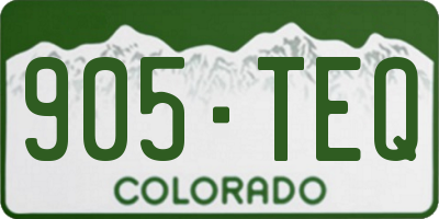 CO license plate 905TEQ