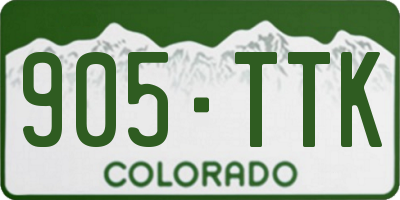 CO license plate 905TTK
