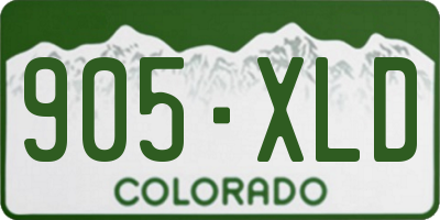 CO license plate 905XLD