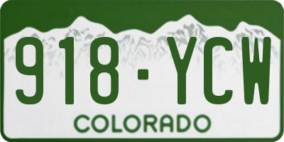 CO license plate 918YCW