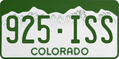 CO license plate 925ISS