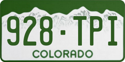 CO license plate 928TPI