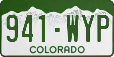 CO license plate 941WYP