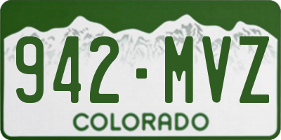 CO license plate 942MVZ