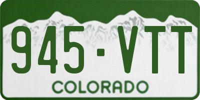 CO license plate 945VTT