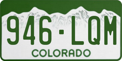 CO license plate 946LQM