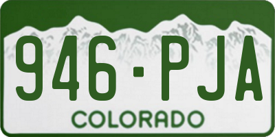 CO license plate 946PJA