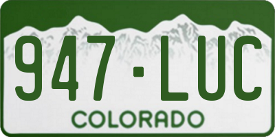 CO license plate 947LUC