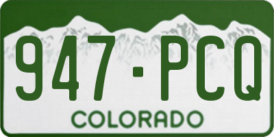 CO license plate 947PCQ