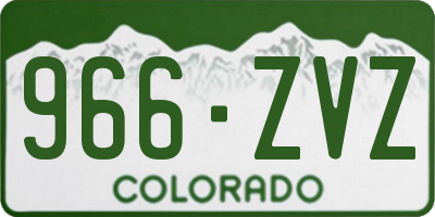 CO license plate 966ZVZ