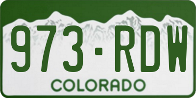 CO license plate 973RDW