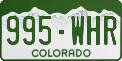 CO license plate 995WHR