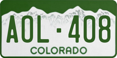 CO license plate AOL408