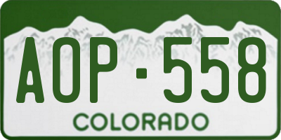CO license plate AOP558
