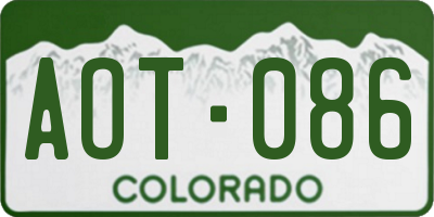 CO license plate AOT086