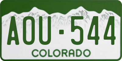 CO license plate AOU544