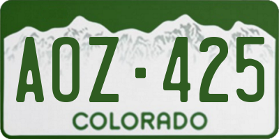 CO license plate AOZ425