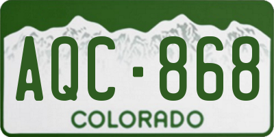 CO license plate AQC868