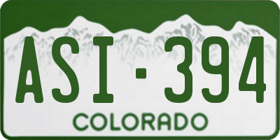 CO license plate ASI394