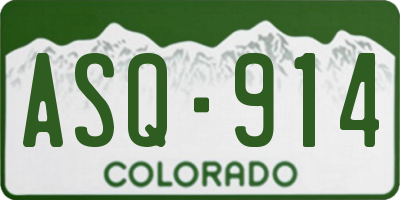 CO license plate ASQ914