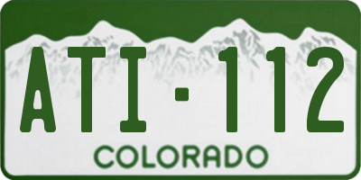 CO license plate ATI112