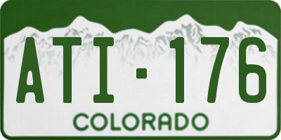 CO license plate ATI176