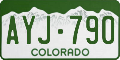 CO license plate AYJ790