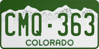 CO license plate CMQ363