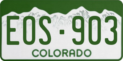 CO license plate EOS903