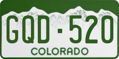 CO license plate GQD520