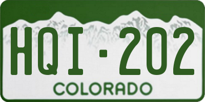 CO license plate HQI202
