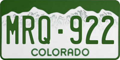 CO license plate MRQ922