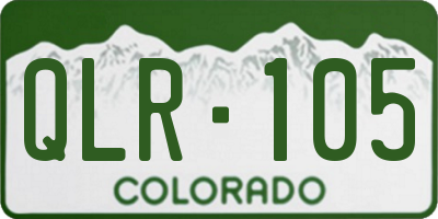 CO license plate QLR105